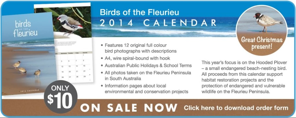 Birds of the Fleurieu Calendar 2014
